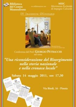 Prof. Petracchi:Una riconsiderazione del risorgimento